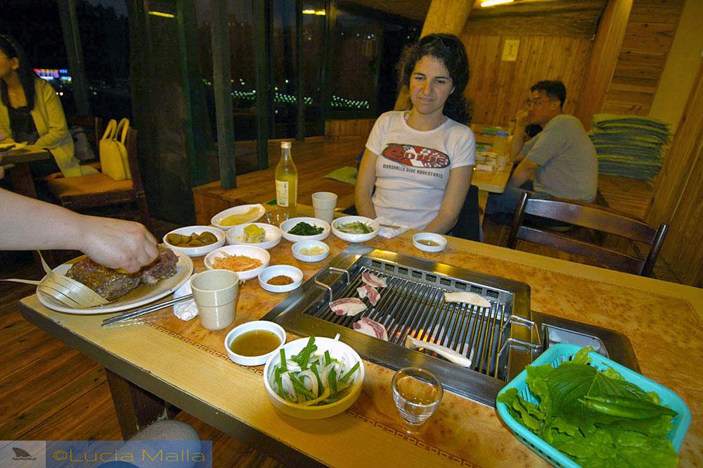 Restaurante de kalbi - coreano com pimenta