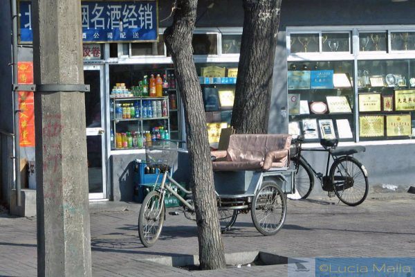 China mãe - Beijing - bicicletas