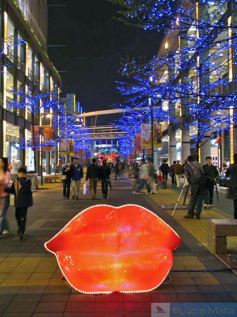 Rua de Taipei à noite