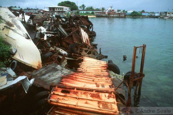 Lixo em Majuro - Ilhas Marshall