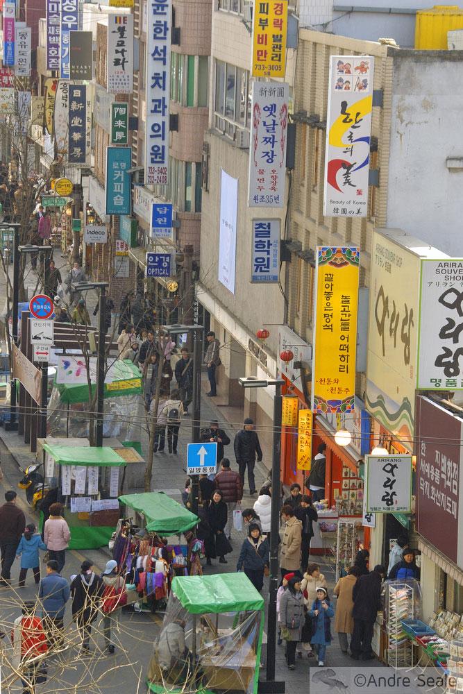 Insadong - bairro para passear em Seul