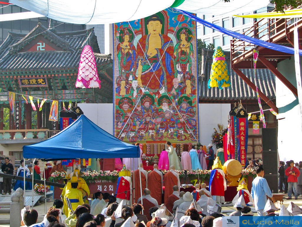 Ritual em templo budista - Coréia do Sul