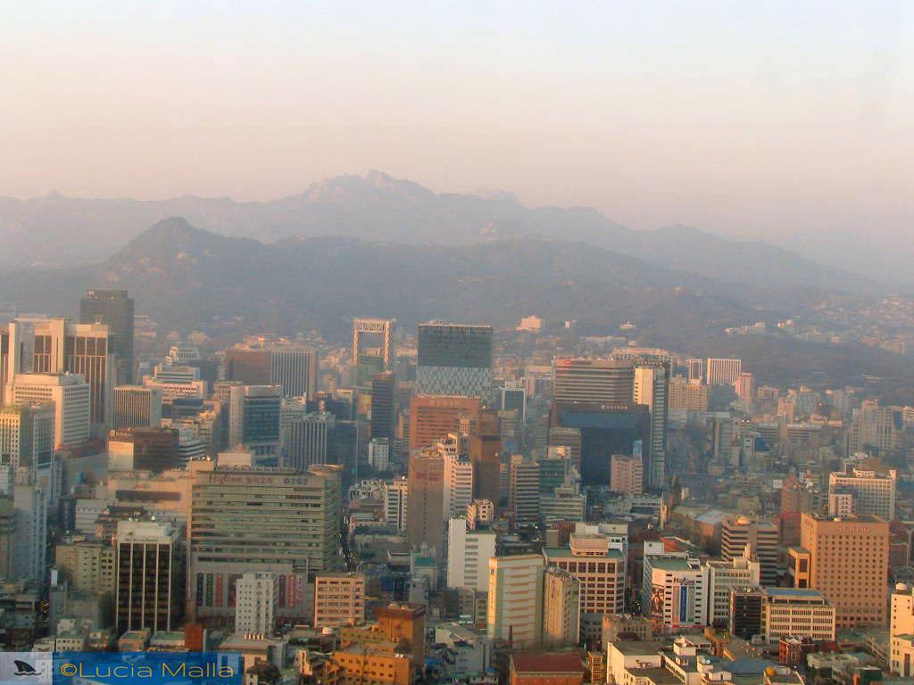 Devore Seul - vista aérea - Coréia do Sul