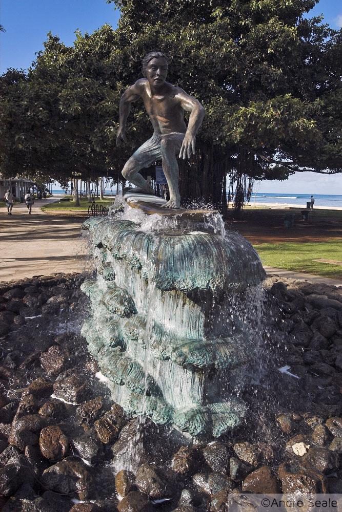 Estátua de surfista - Waikiki - Hawaii