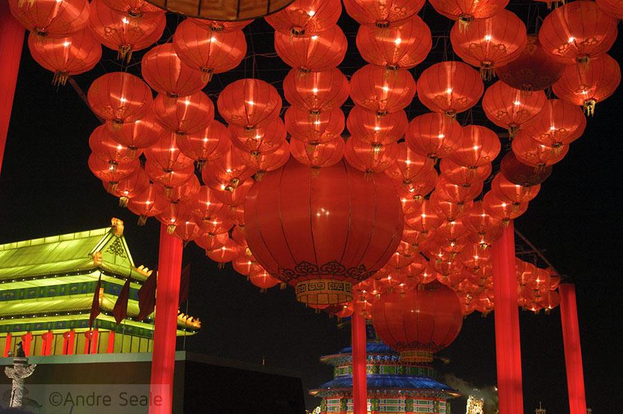 Réplica do Palácio Gyeongbokgung de Seul - Festival de Luzes