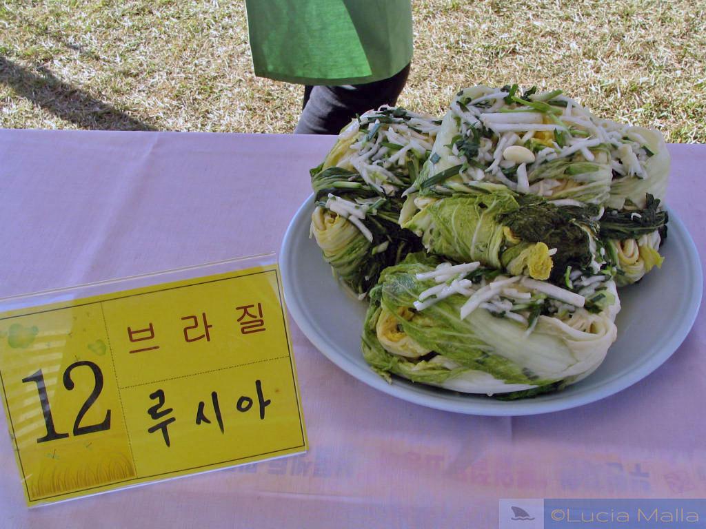 Kimchi branco - Festival de Frutos do Mar em Ganggyeong - Coréia do Sul