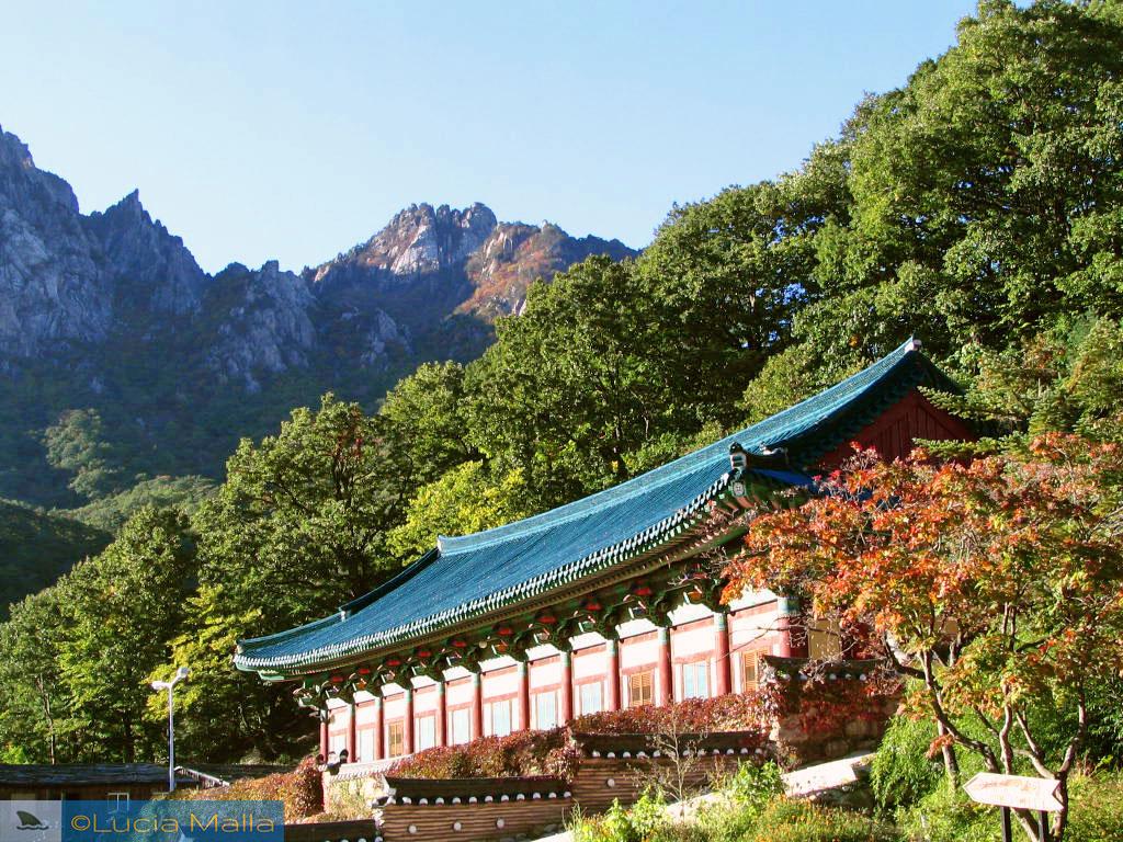 Parque Nacional de Seoraksan - Templo tradicional coreano