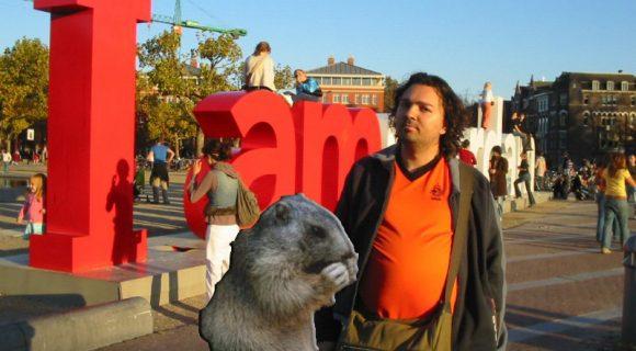 Marmota com o Marmota