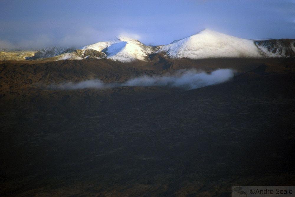 De Hilo a Kona - Mauna Kea com neve