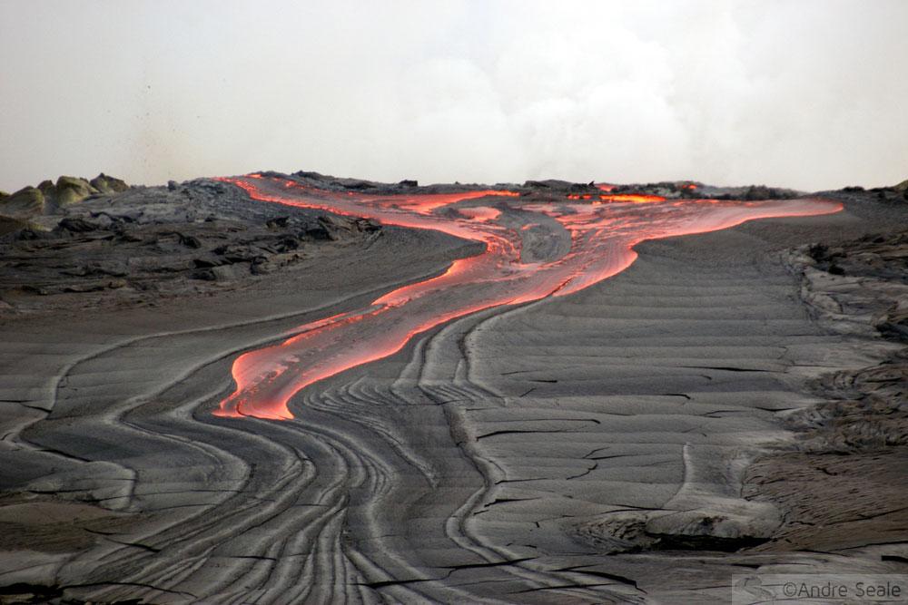 Rios de fogo do Kilauea