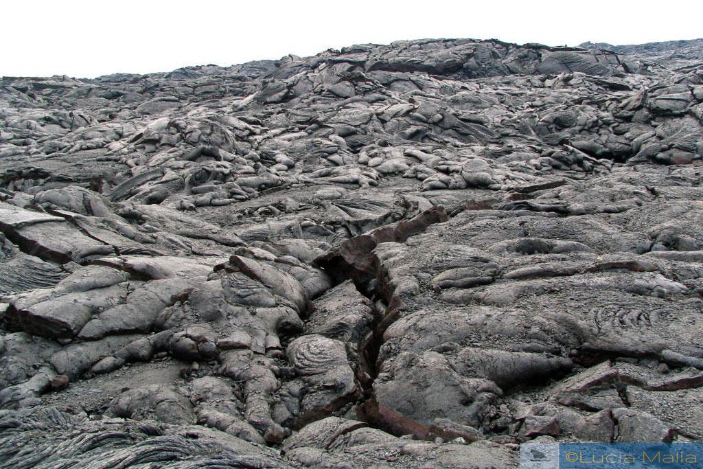 Rios de fogo do Kilauea - campo de lava