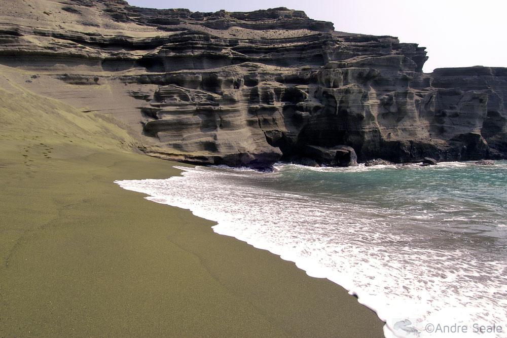 De Kona a Hilo - Green Sand Beach - Big Island