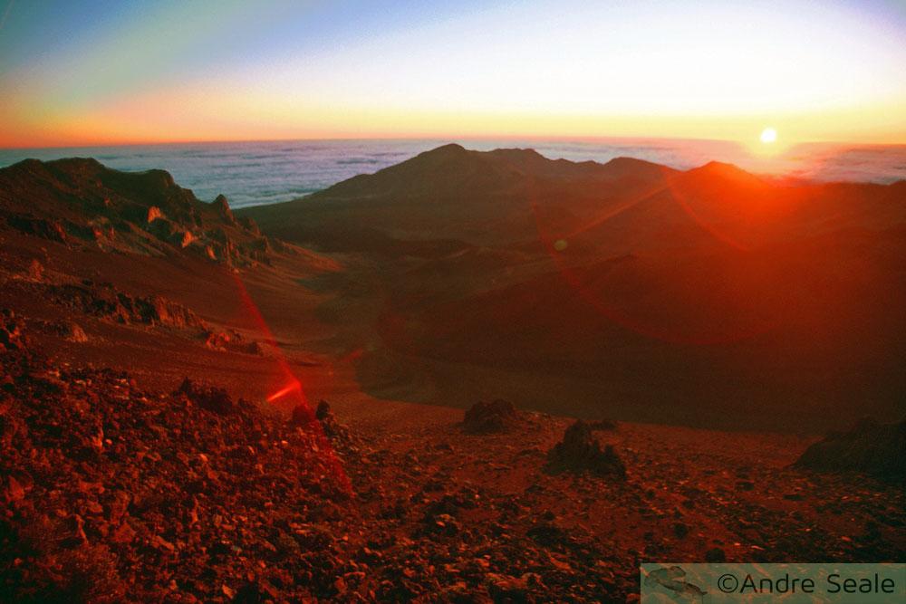 Guia em Maui - nascer do sol no vulcão Haleakala