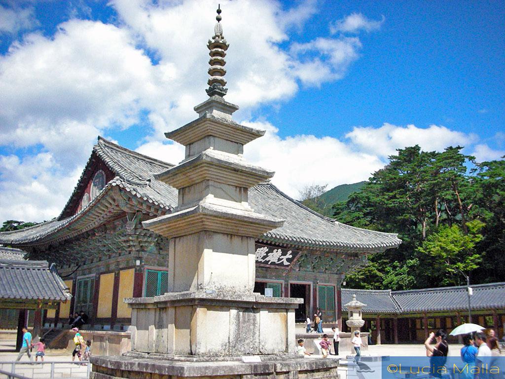 Pagoa de três níveis - Palácio Bulguksa - Gyeongju - Coréia do Sul