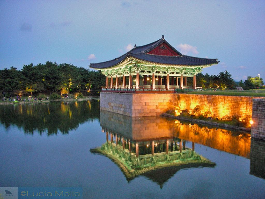 Pavilhão Silla no lago Anapji - Gyeongju