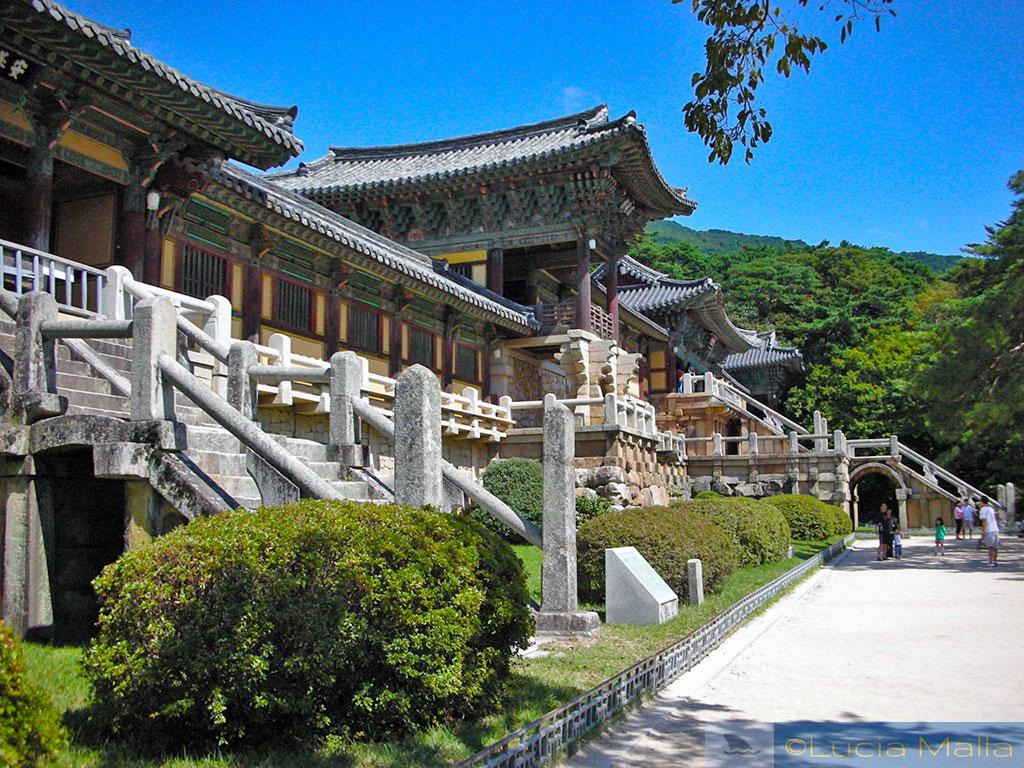 Escadaria de pedra - Palácio Bulguksa - Gyeong-ju - Coréia do Sul