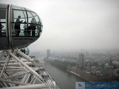 Vista da London Eye em dia nublado - Pelas ruas de Londres