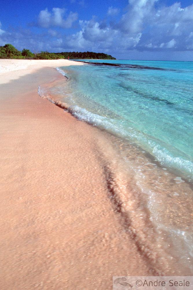 Praia no atol de Rongelap - Ilhas Marshall