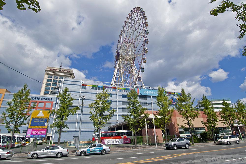 Roda gigante em cima do prédio - Ulsan