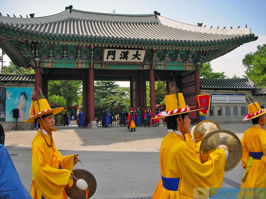 Troca da guarda real - Palácio de Deoksugung - Seul - Coréia do Sul