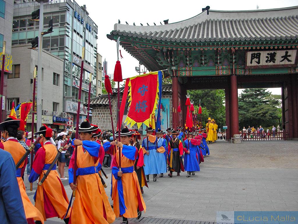 Roteiro - Troca da guarda real - Palácio de Deoksugung - Seul - Coréia do Sul