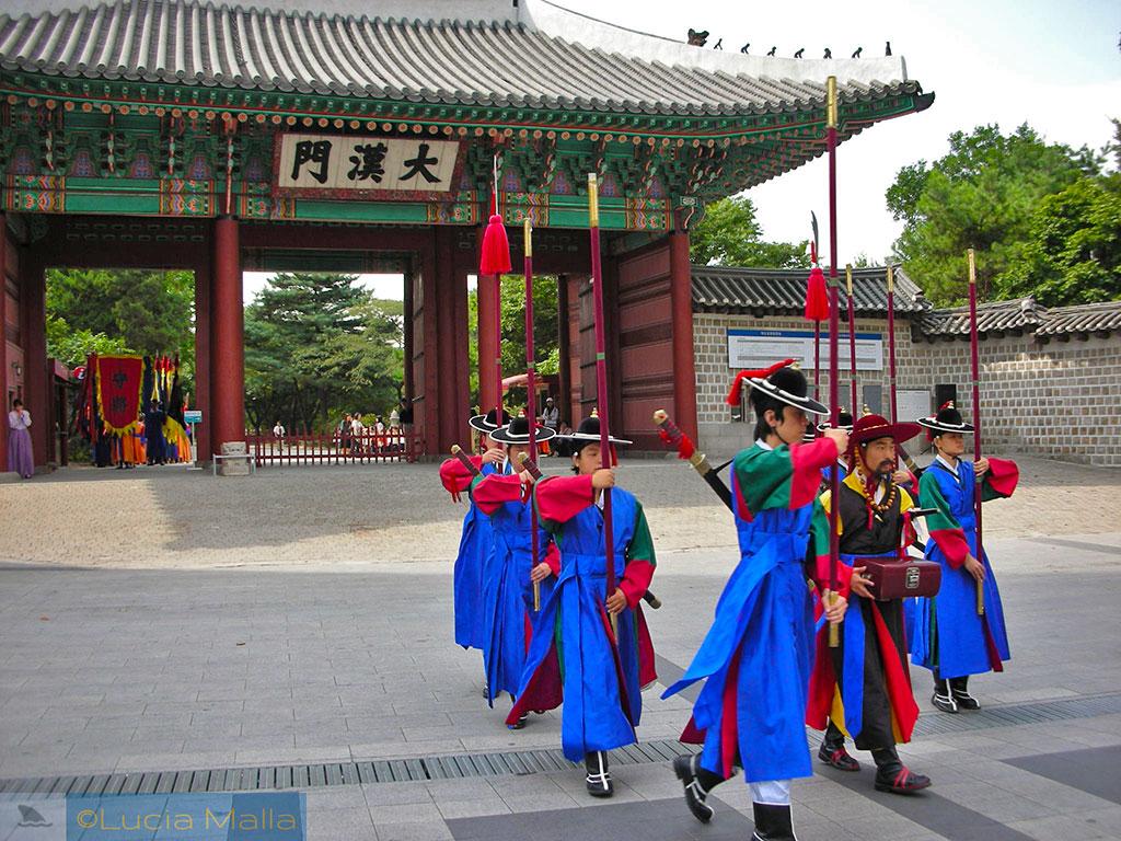 Troca da guarda real - Palácio de Deoksugung - Seul