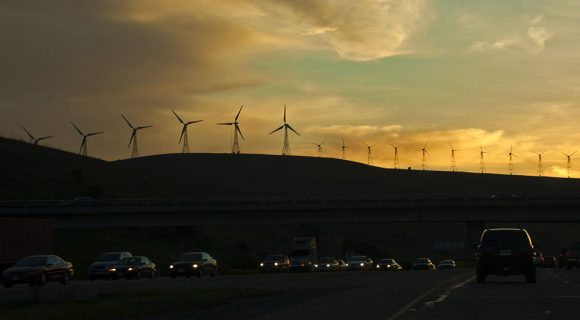 Moinhos de vento californianos