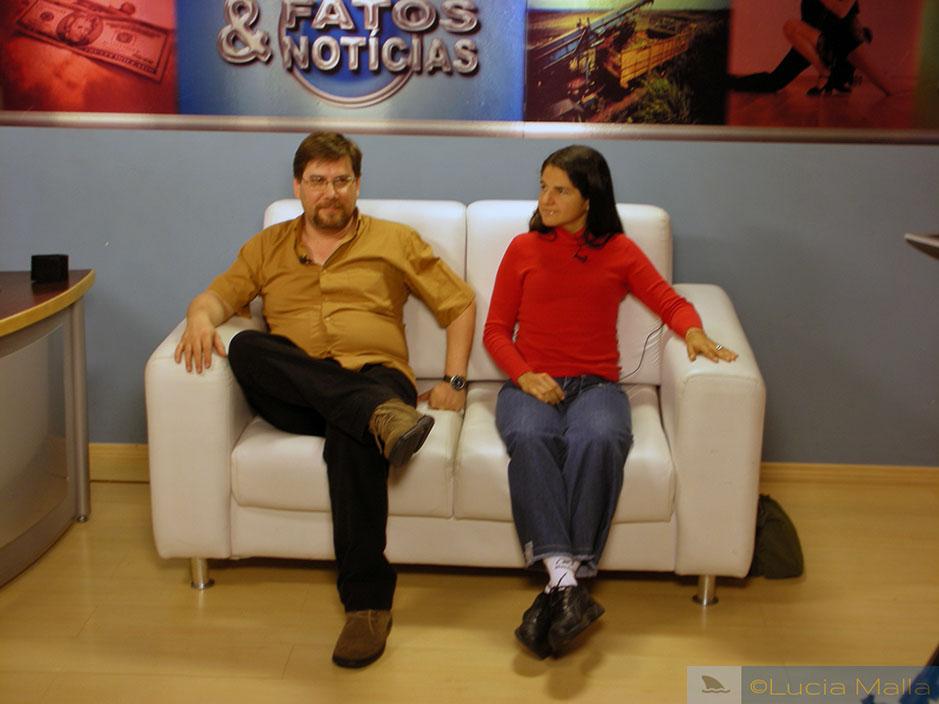 Entrevista em Limeira - Flavio Prada e Lucia Malla