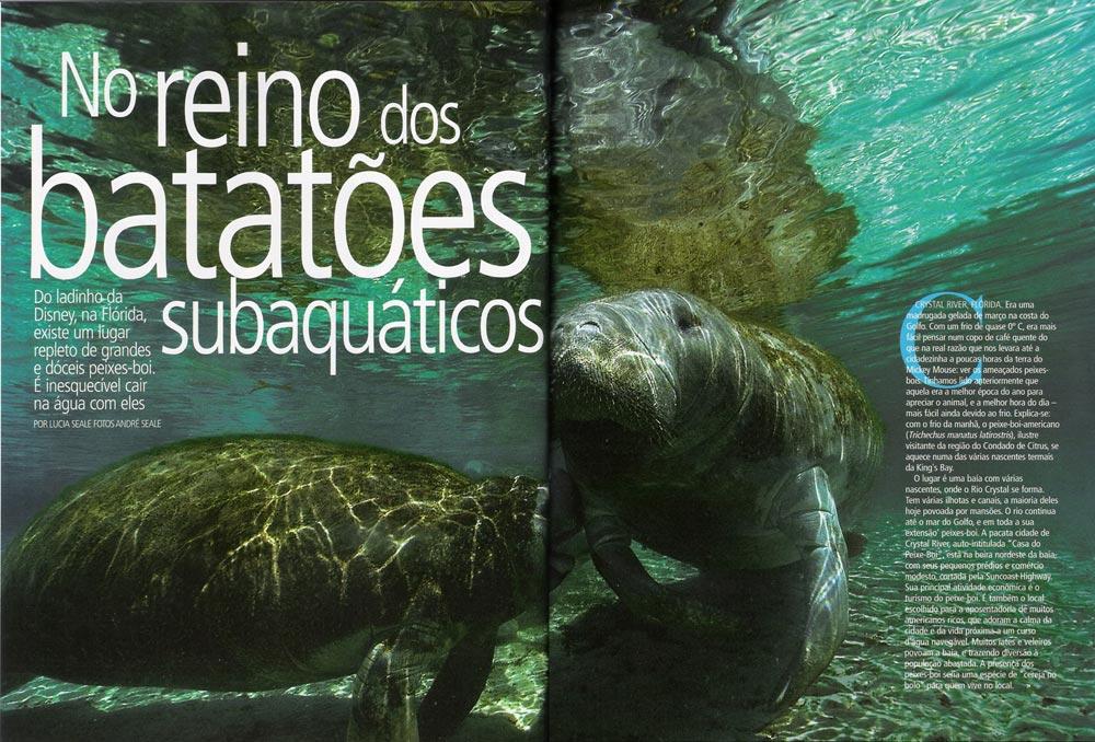 Revista Mergulho com o peixe-boi