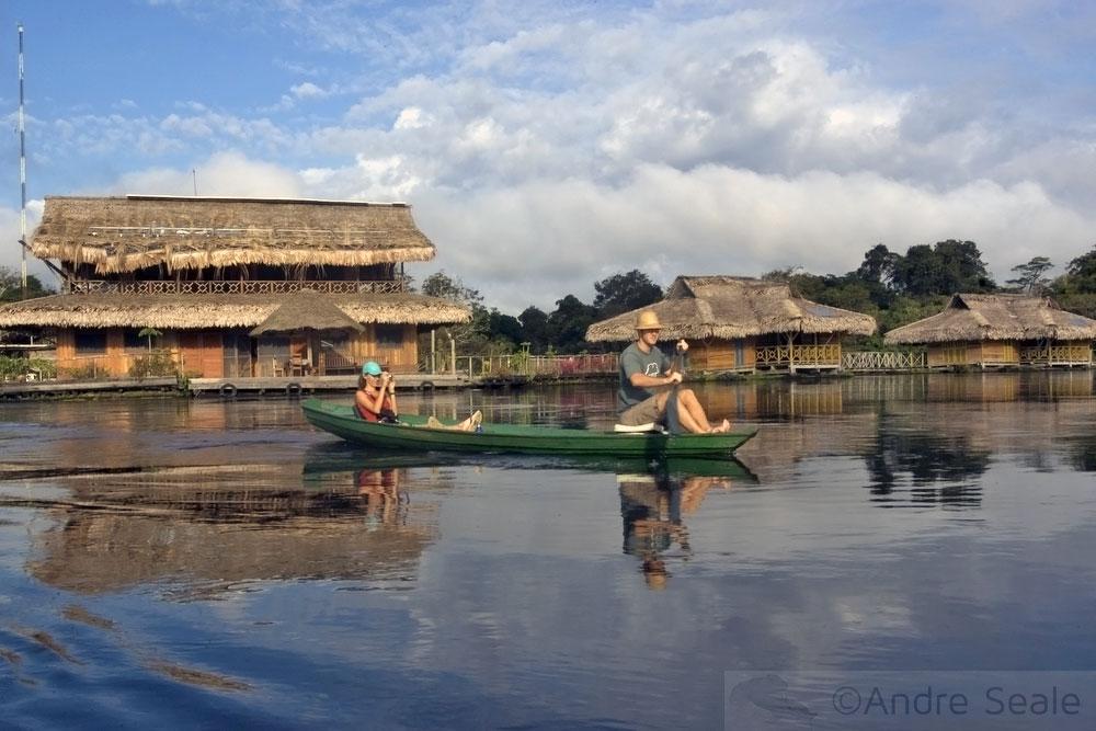 Em Mamirauá - bangalôs da pousada Uacari