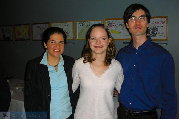 Twitteiros: Lucia Malla, Érica e Carlos Hotta