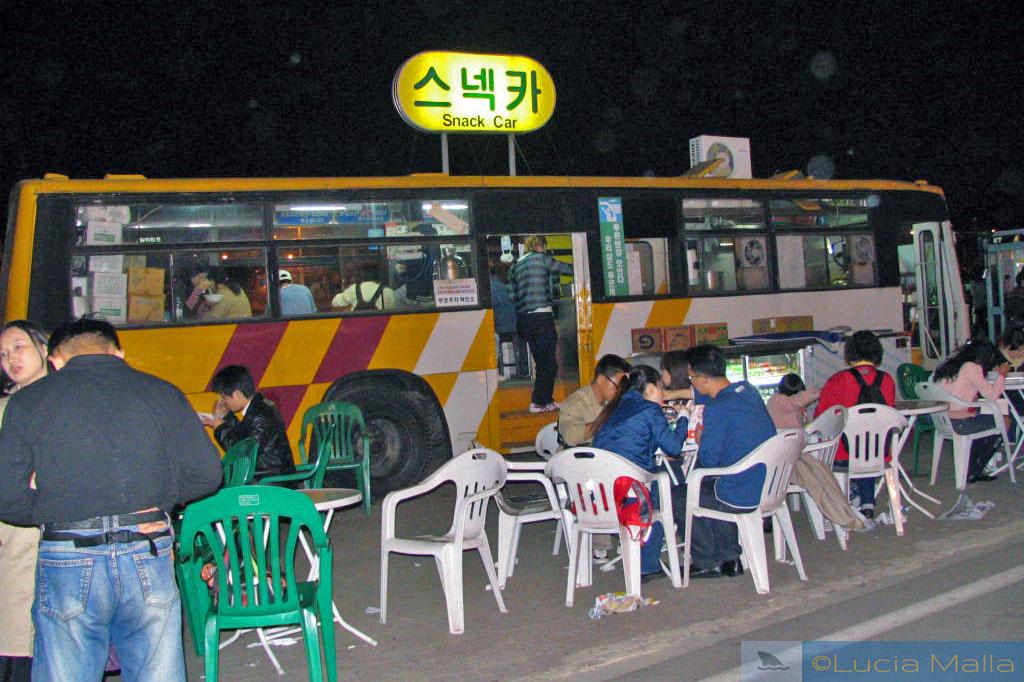 Snack Car em Seul - língua coreana - Coréia do Sul