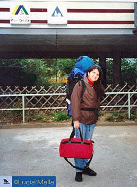 Viajando por email: Malla e sua mochila