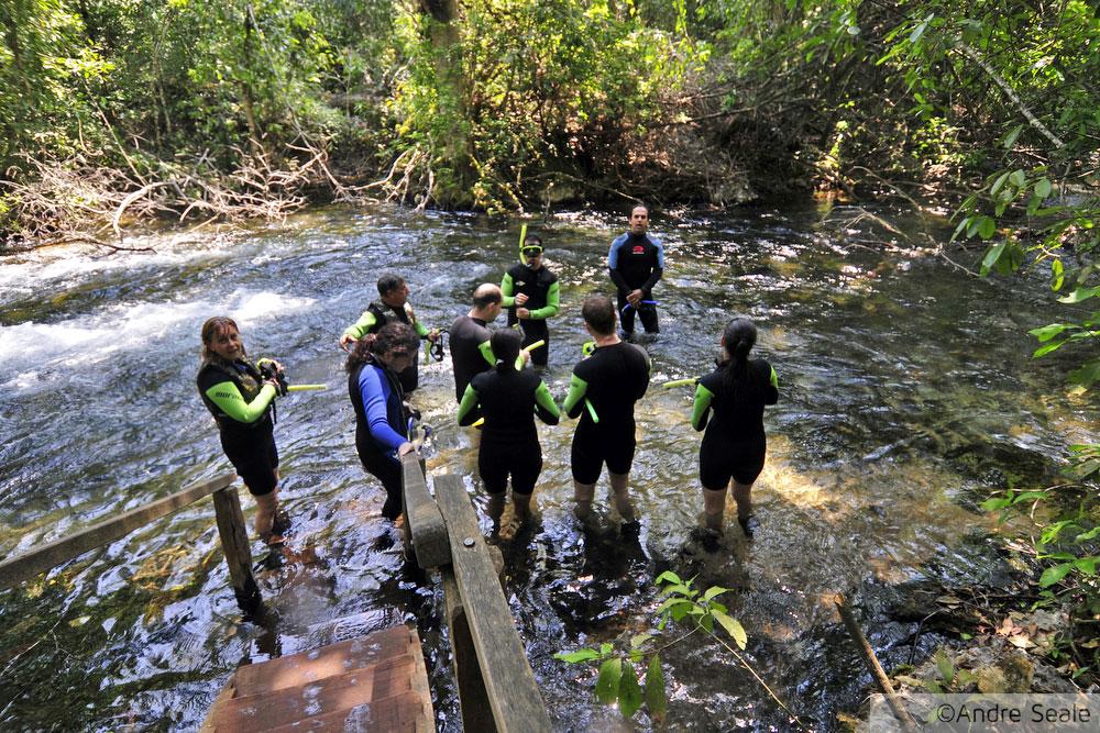 flutuação no rio da Prata - grupo de ecoturismo