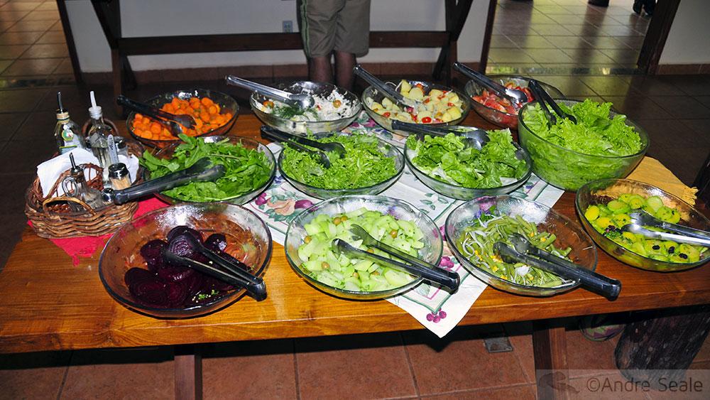 Tour da sustentabilidade - saladas da Estância Mimosa