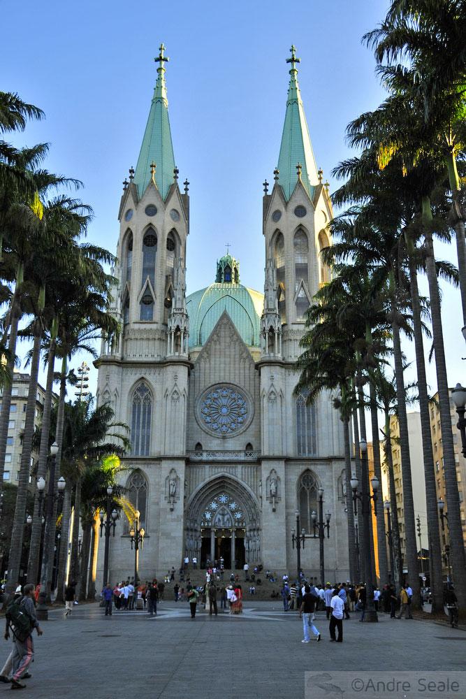 Catedral da Sé - centro de São Paulo - Cartões postais
