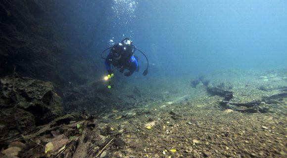 Mergulho autônomo no rio da Prata