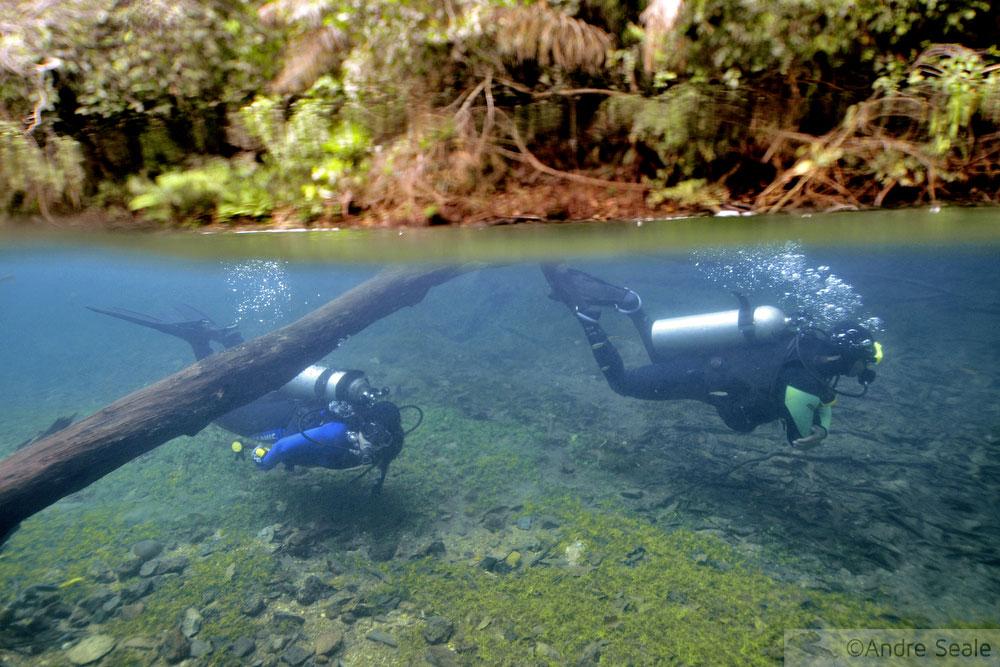 Mergulho scuba no rio da Prata