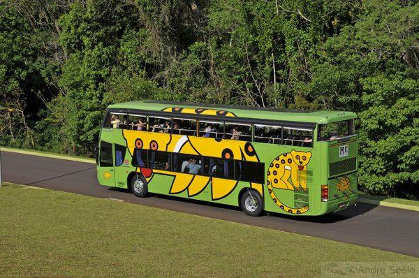 Catartas do Iguaçu - ônibus do parque nacional