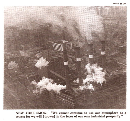 alerta sobre poluição