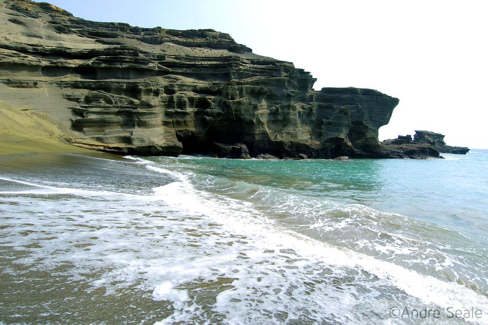 Melhores praias do Havaí - Green Sand Beach