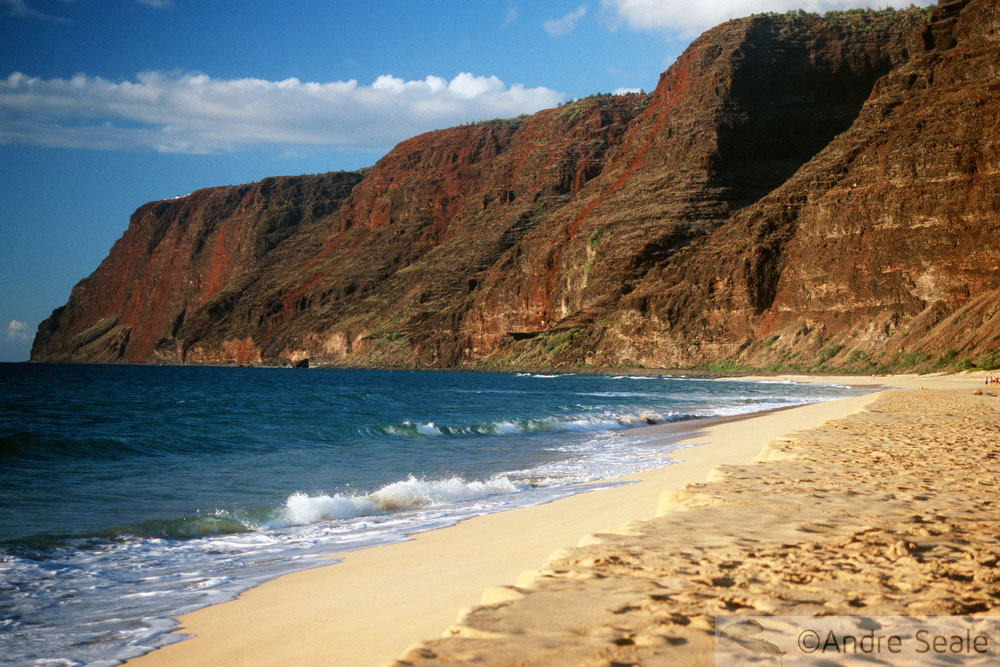 As águas do Kauai - Polihale beach