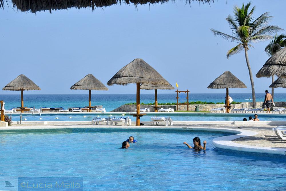 Piscina do hotel - Cancún - México