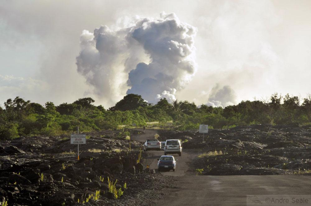 Estrada em Kapalana - Big Island