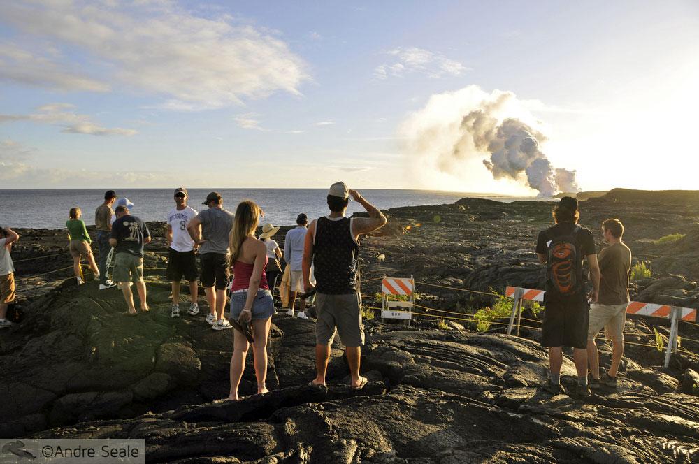Trilha no campo de lava - Visita ao Kilauea - Big Island