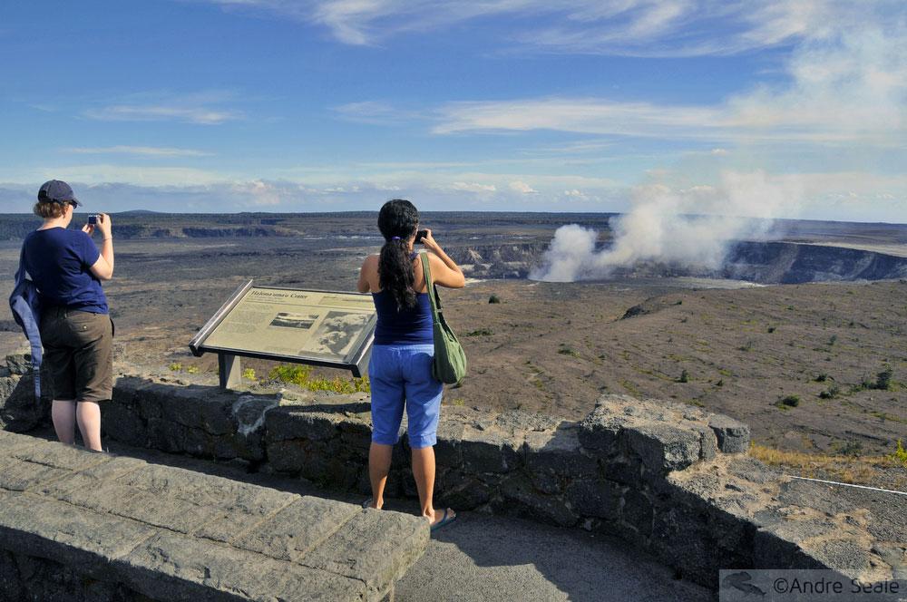 Cratera Halemaumau - visita ao Kilauea - Parque Nacional dos Vulcões do Havaí