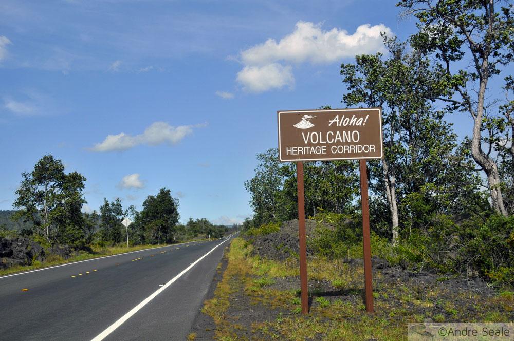 Estrada para o Parque Nacional dos Vulcões do Havaí - Big Island