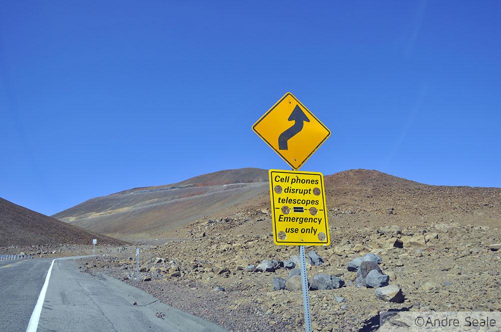 Estrada para o Mauna Kea