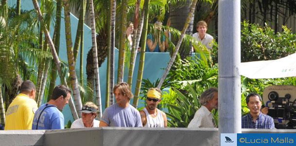 Gravação da temporada 6 de Lost - Sawyer e Miles em Honolulu