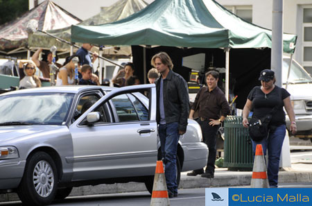 Gravando - Sawyer na temporada 6 de Lost